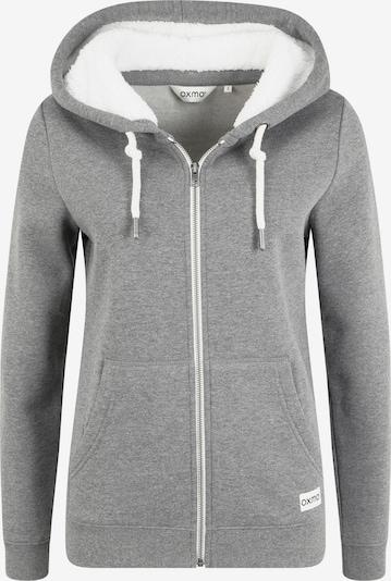 Oxmo Zip-Up Hoodie 'Binja' in Grey / mottled grey, Item view