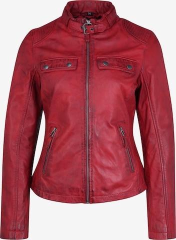 7ELEVEN Lederjacke 'Milano' in Rot