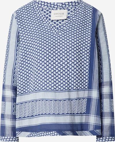 Bluză Cecilie Copenhagen pe albastru porumbel / alb, Vizualizare produs