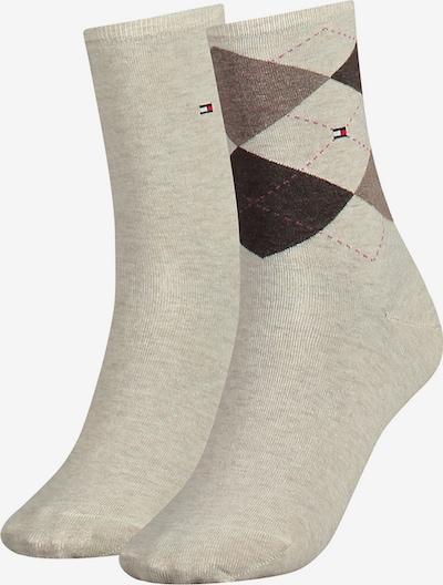 TOMMY HILFIGER Socken in beige / taupe / schwarz, Produktansicht