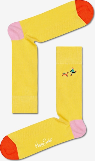 Happy Socks Socken in gelb / pink / rot, Produktansicht