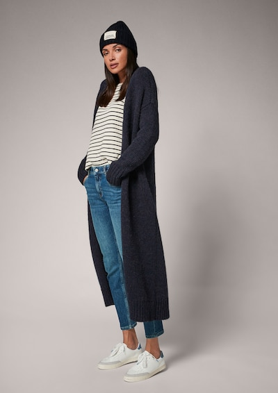 COMMA Knitted Coat in marine blue, View model