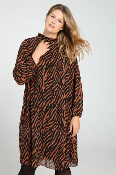 Paprika Kleid in braun / schwarz, Modelansicht