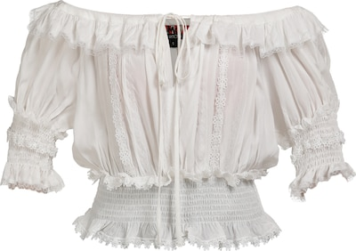 myMo ROCKS Feminine Bluse in weiß, Produktansicht