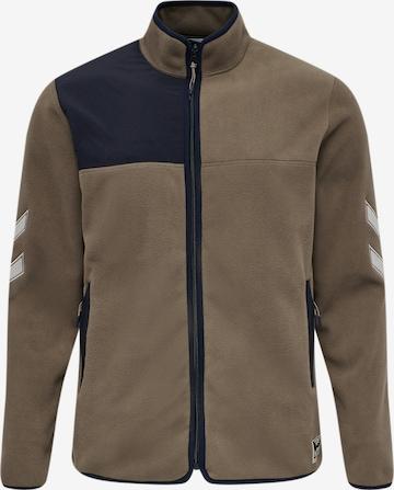 hummel hive Fleece Jacket 'Kasper' in Brown