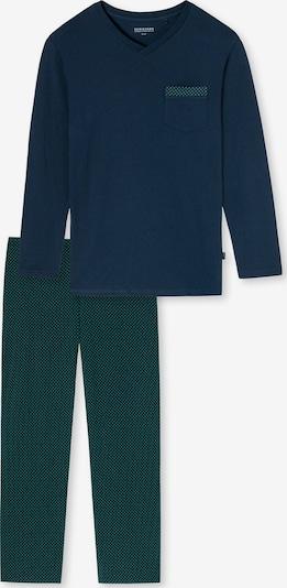 SCHIESSER Schlafanzug in nachtblau / grün, Produktansicht