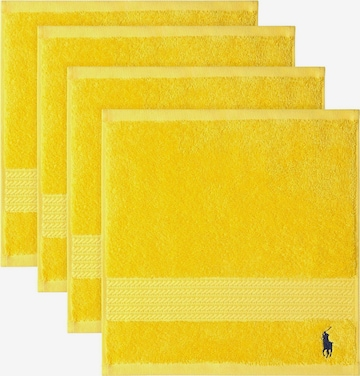 Ralph Lauren Home Washcloth 'POLO PLAYER' in Yellow