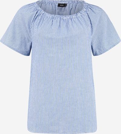 Zizzi Bluse 'Vava' in blau / weiß, Produktansicht