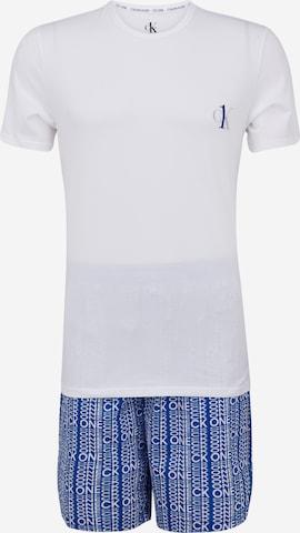 Pigiama corto di Calvin Klein Underwear in bianco