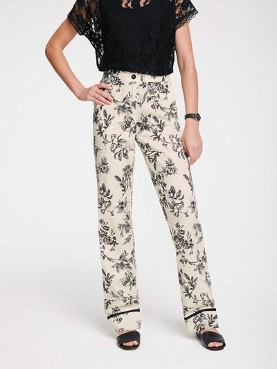 Pantaloni heine pe negru / offwhite, Vizualizare model