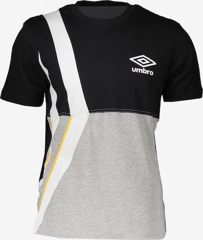 UMBRO T-Shirt in grau / schwarz / weiß, Produktansicht