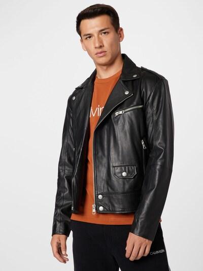 Calvin Klein Jeans Jacke in schwarz: Frontalansicht