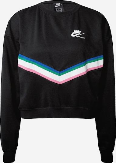 Nike Sportswear Sweat-shirt en bleu / vert / rose / noir / blanc, Vue avec produit
