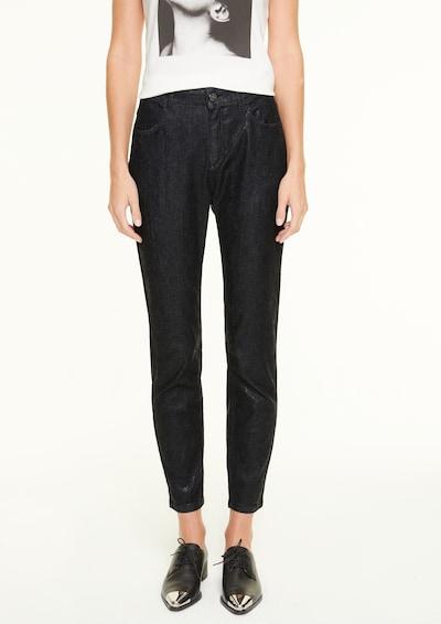 COMMA Slim Fit: Jeans in Snake-Optik in schwarz, Modelansicht