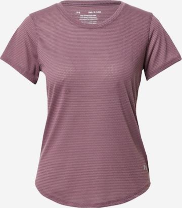 purpurinė UNDER ARMOUR Sportiniai marškinėliai 'Streaker'