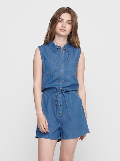 ONLY Jumpsuit in de kleur Blauw denim, Modelweergave