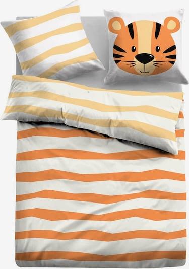 TOM TAILOR Bettbezug in orange / weiß, Produktansicht