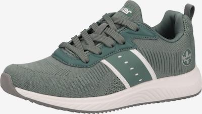 Sneaker low RIEKER pe verde smarald / alb, Vizualizare produs