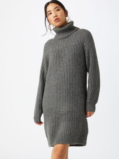 VILA Strickkleid in grau, Modelansicht