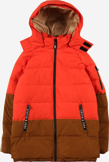 SCOTCH & SODA Winter Jacket in Chamois / Light brown / Red, Item view