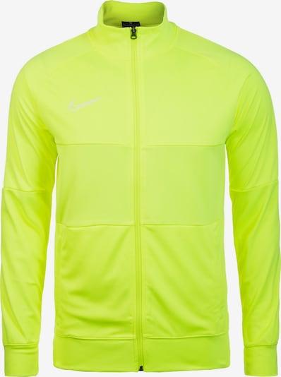 NIKE Trainingsjacke 'Academy 19 Track' in neongelb / weiß, Produktansicht
