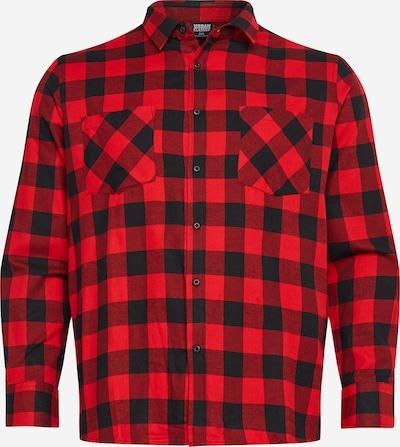 Urban Classics Big & Tall Overhemd in de kleur Rood / Zwart, Productweergave