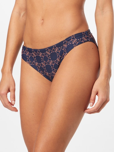 GUESS Bikinihose 'BRIEF' in navy / karamell, Modelansicht