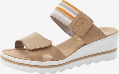 RIEKER Pantofle - světle béžová / oranžová / bílá, Produkt