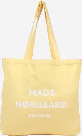 MADS NORGAARD COPENHAGEN Cabas 'Athene' en jaune / blanc, Vue avec produit