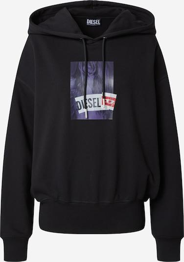 DIESEL Sweatshirt 'MAGDALENA' in violet / Red / Black / White, Item view