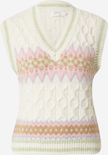 ONLY Džemperis, krāsa - karameļkrāsas / gaiši zaļš / gaiši rozā / balts, Preces skats