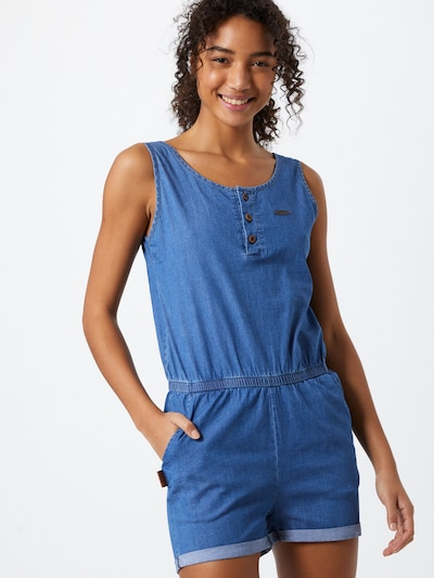 Alife and Kickin Jumpsuit 'Jolie' in de kleur Blauw denim, Modelweergave