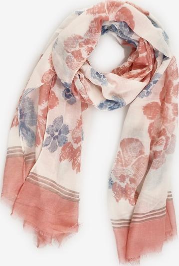 Emma & Kelly Damenschal mit luftigem Blumendruck in rosa / weiß, Produktansicht