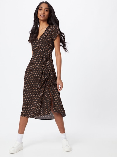 Cotton On Šaty - tmavooranžová / čierna: Pohľad spredu