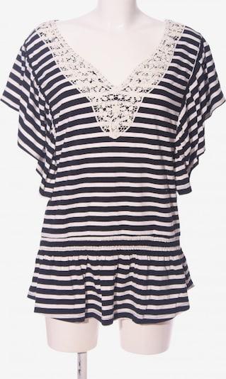 MOGUL V-Ausschnitt-Shirt in L in schwarz / weiß, Produktansicht