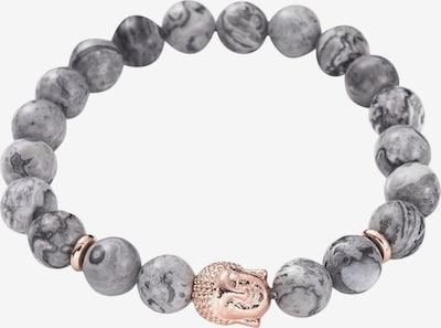 Heideman Armband 'Buddha' in rosegold / grau, Produktansicht
