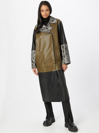 modström Mantel 'Kara' in braun / khaki / schwarz, Modelansicht