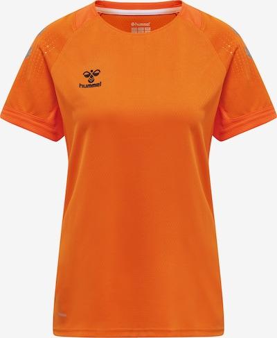 Hummel T-shirt fonctionnel 'Poly' en gris / orange / noir, Vue avec produit