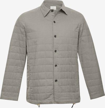 TERRA LUNA Gesteppte und gefütterte Jacke LOAF mit Seitentasche in BIO-Baumwolle handgewebt in grau, Produktansicht