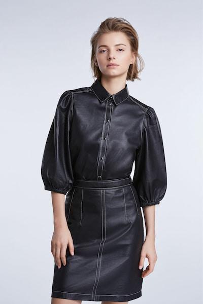 SET Hemdbluse in schwarz, Modelansicht