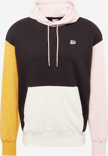 PUMA Sweatshirt in gelb / pink / schwarz / weiß, Produktansicht