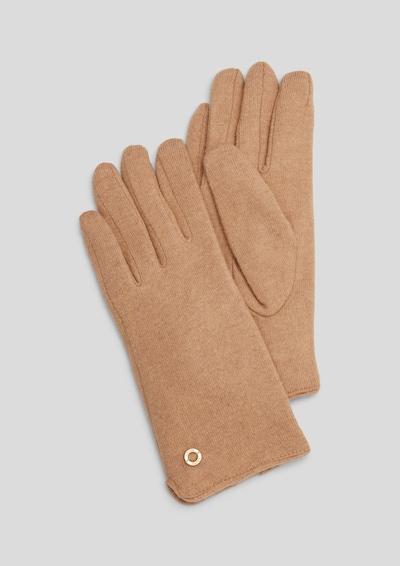 s.Oliver Handschuhe in cappuccino, Produktansicht