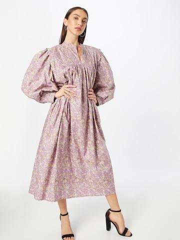 Line of Oslo Košeľové šaty 'Laura' - fialová