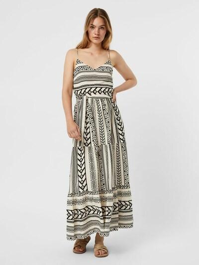 VERO MODA Kleid in beige / schwarz, Modelansicht