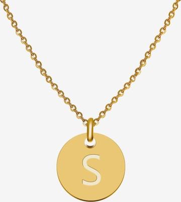 GOOD.designs Kette mit Anhänger Buchstabenkette S in Gold