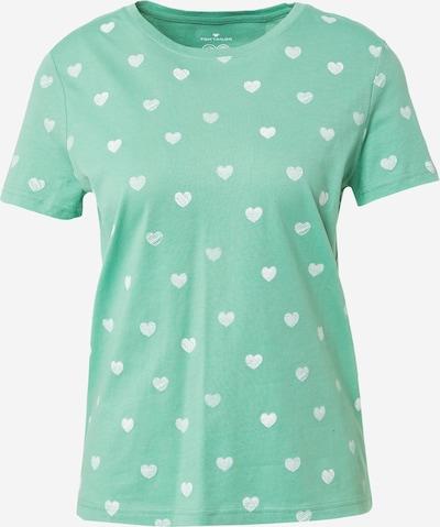 TOM TAILOR Shirt in de kleur Grijs / Groen / Wit, Productweergave