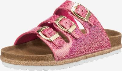 SUPERSOFT by Indigo Pantoletten in pink / silber, Produktansicht