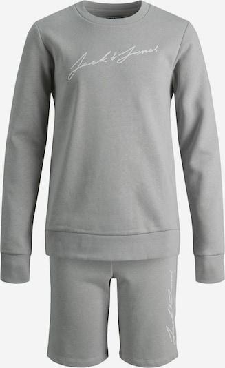 Jack & Jones Junior Joggingpak in de kleur Lichtgrijs / Wit, Productweergave