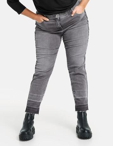 SAMOON 3/4 Jeans in Grau