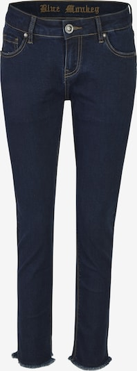 Blue Monkey Skinny Fit Jeans Anna mit offenem Saum in blau, Produktansicht